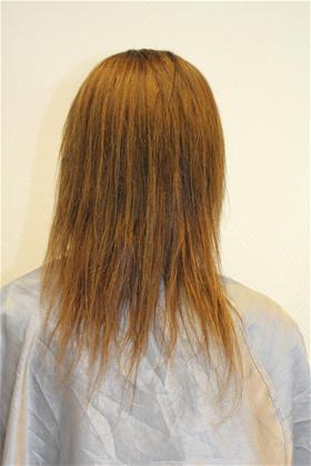 veldig tynt hår